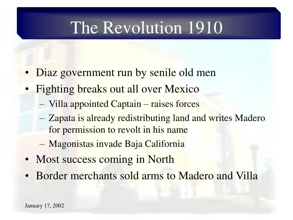 The Revolution 1910