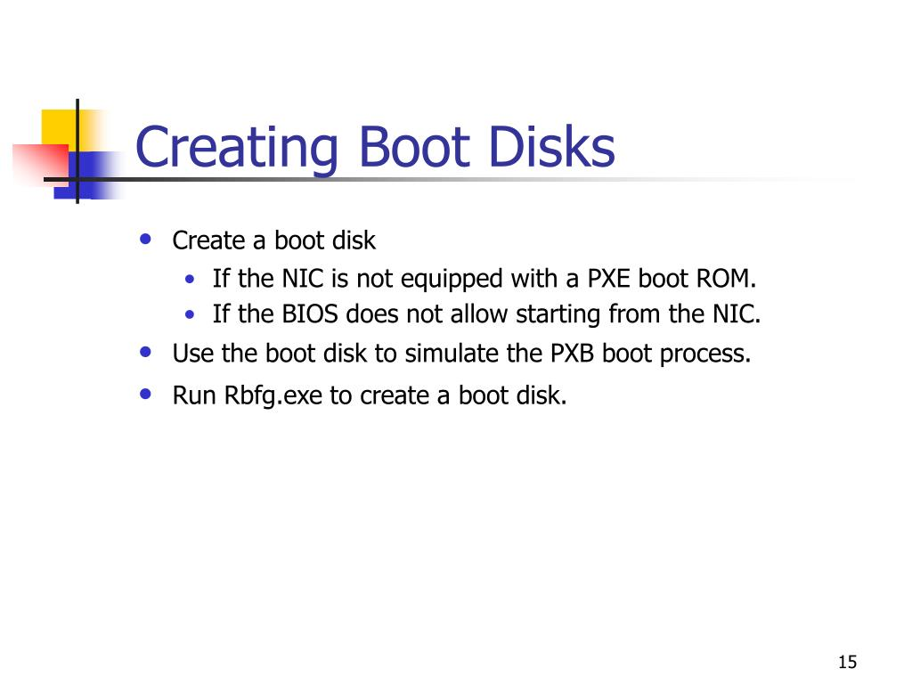 Creating Boot Disks