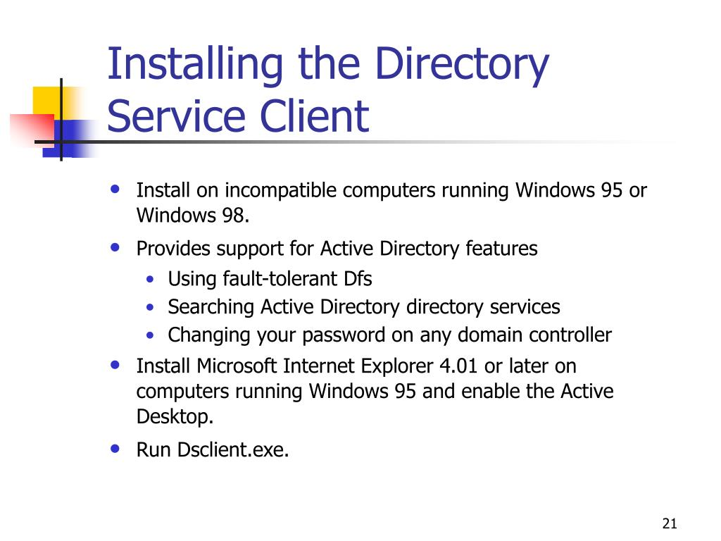 Installing the Directory Service Client