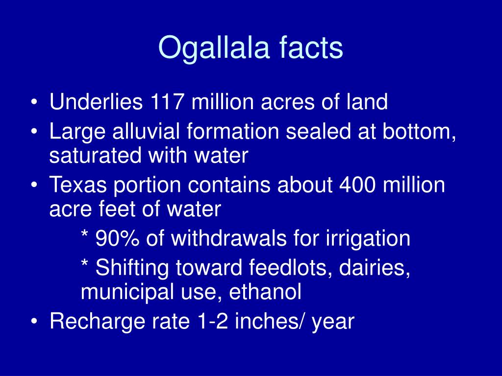 Ogallala facts