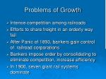 problems of growth