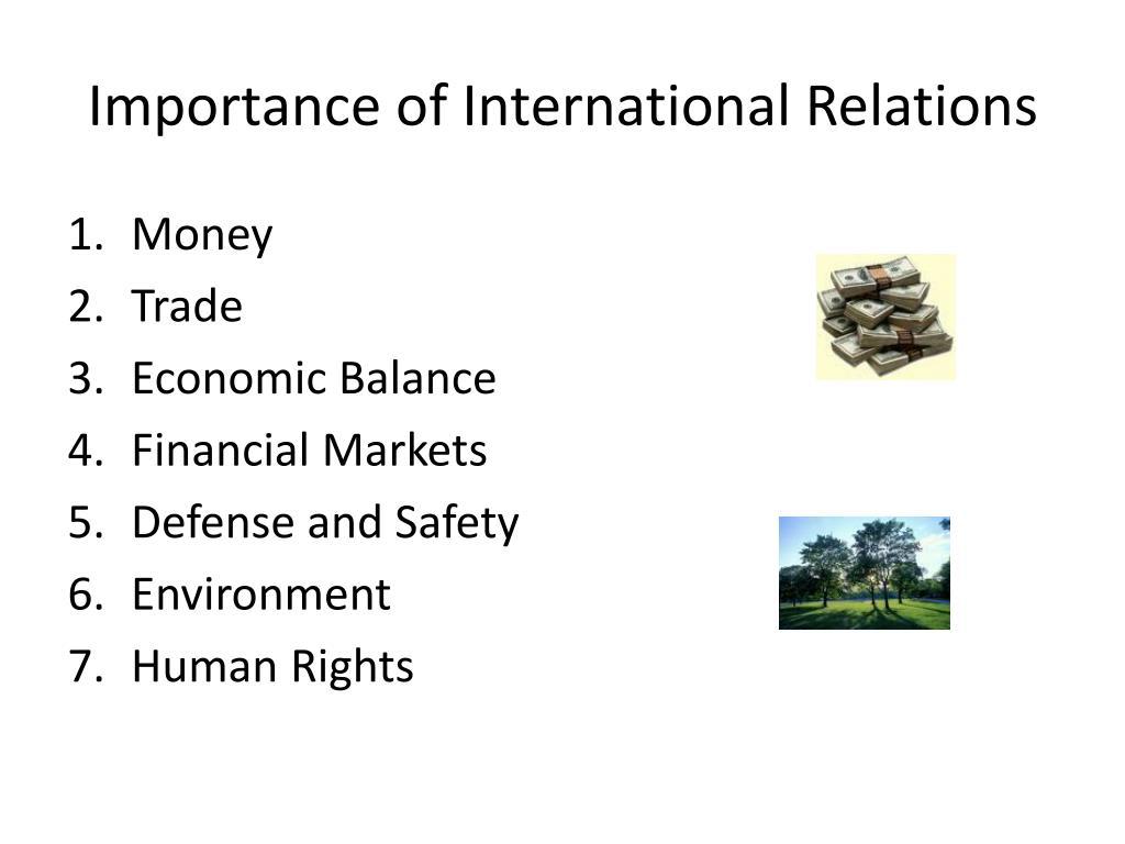 Importance of International Relations