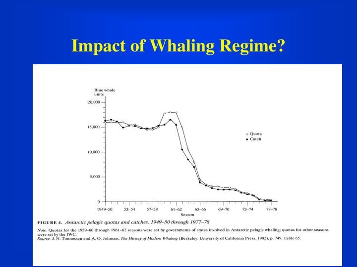 Impact of Whaling Regime?