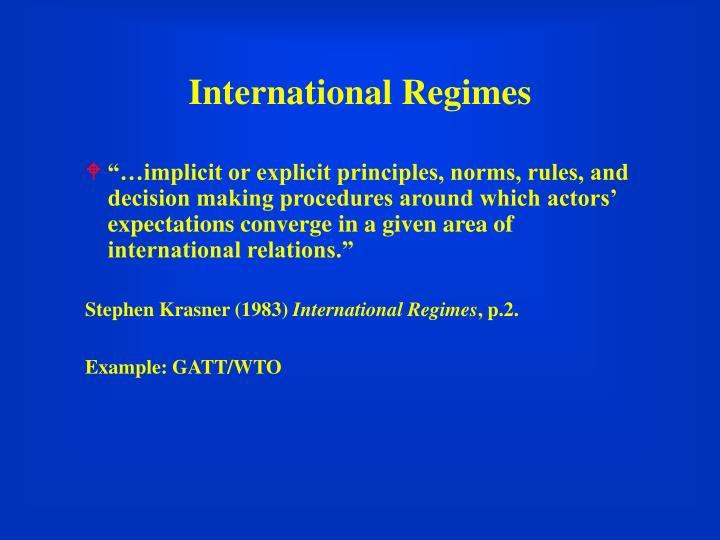International Regimes