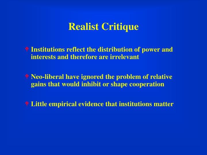 Realist Critique