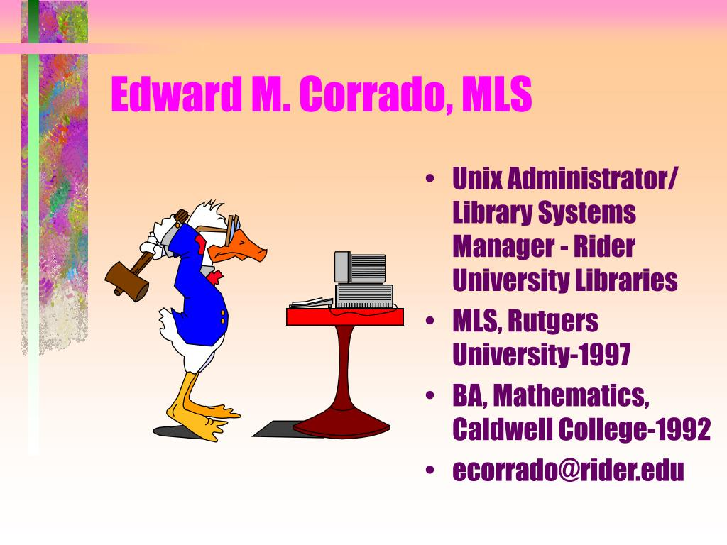 Edward M. Corrado, MLS