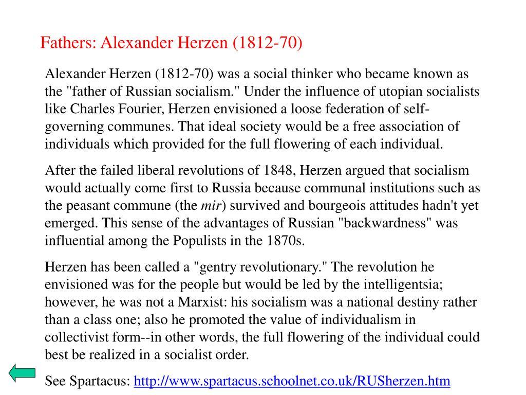 Fathers: Alexander Herzen (1812-70)