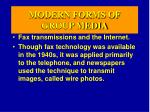 modern forms of group media