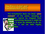 the press legal and constitutional issues