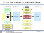 at outcome model 5 with pre interventions