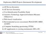 exploratory r d projects instrument development