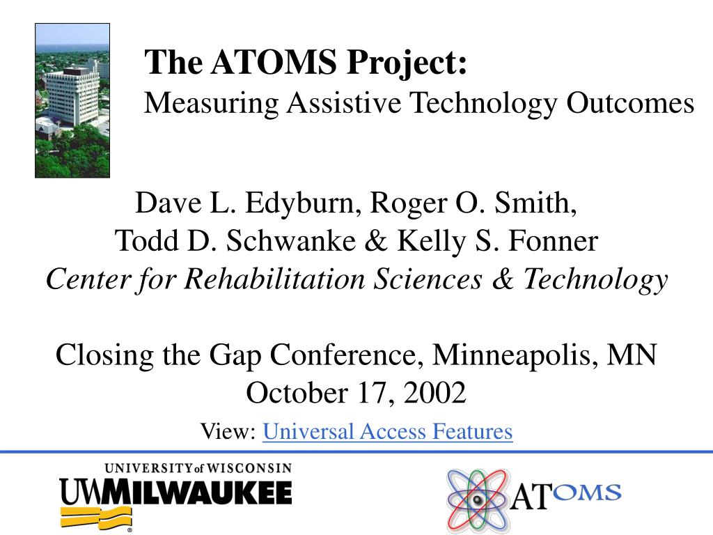 the atoms project measuring assistive technology outcomes l.