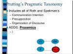prutting s pragmatic taxonomy