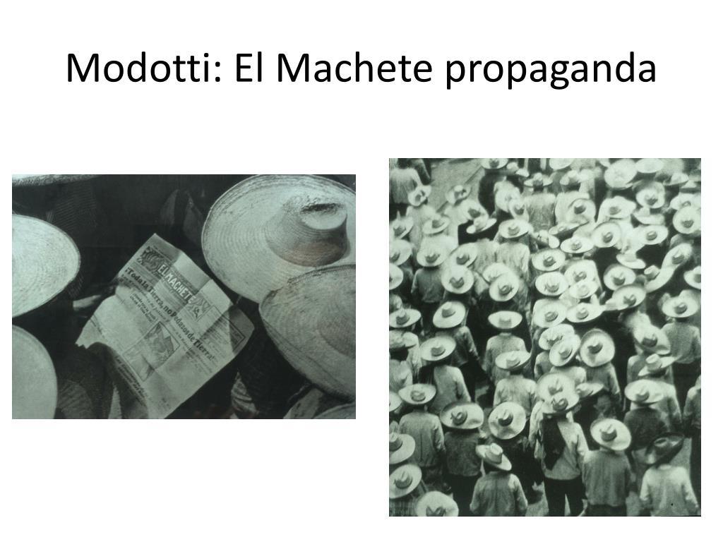 Modotti: El Machete propaganda