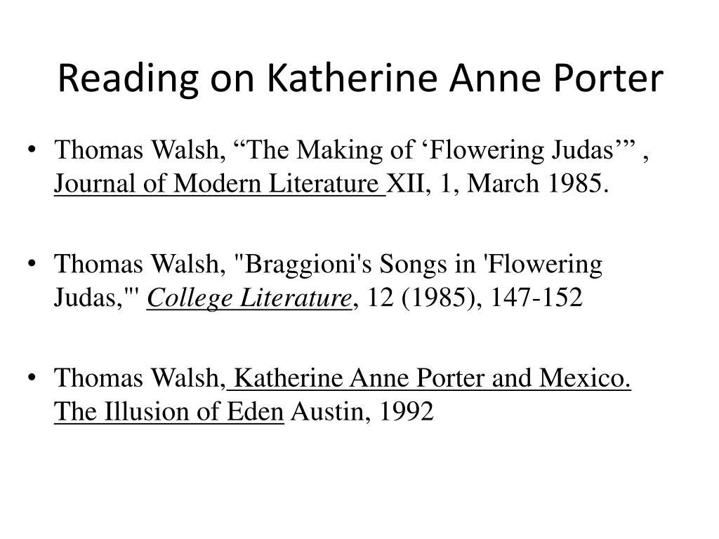 Reading on Katherine Anne Porter