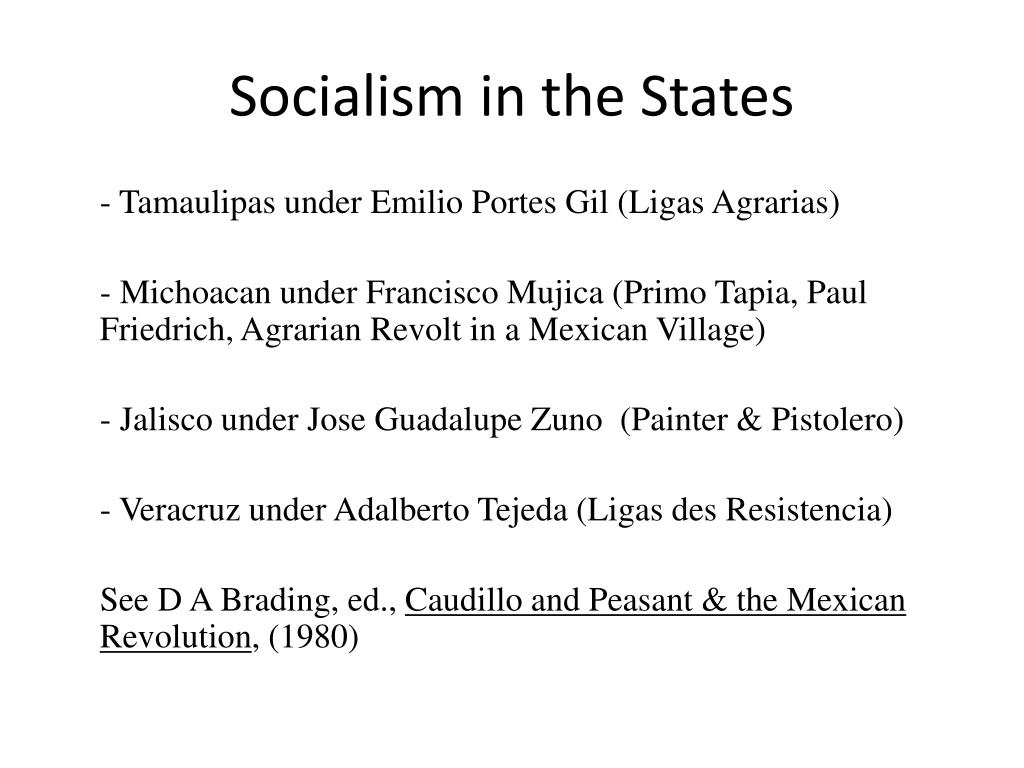 Socialism in the States