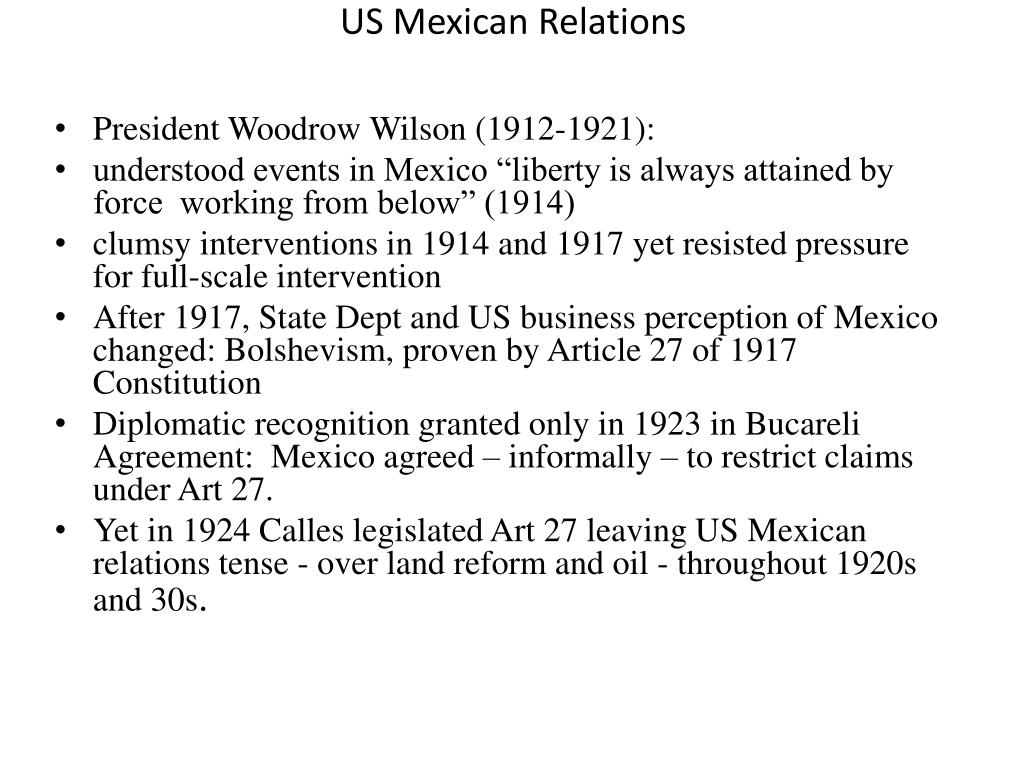 US Mexican Relations