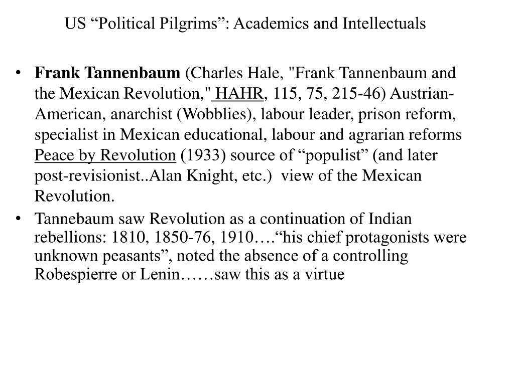 "US ""Political Pilgrims"": Academics and Intellectuals"