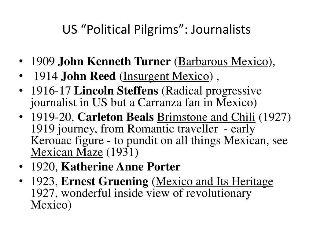 """US """"Political Pilgrims"""": Journalists"""