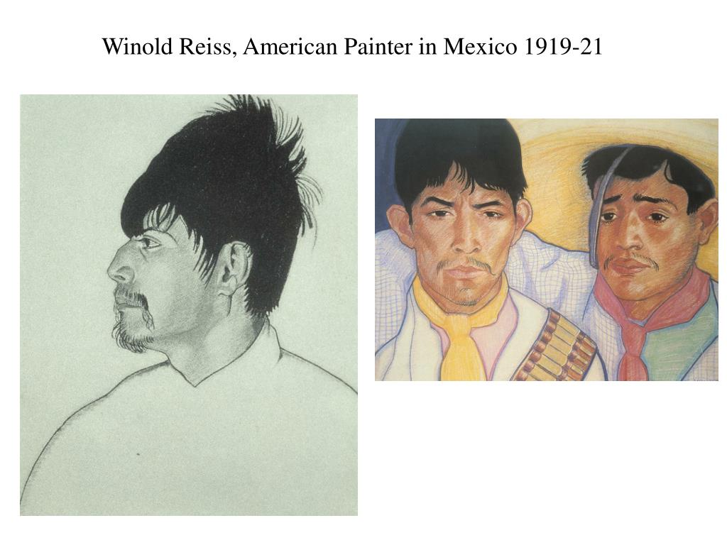 Winold Reiss, American Painter in Mexico 1919-21