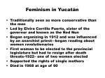 feminism in yucat n