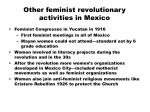 other feminist revolutionary activities in mexico