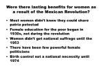 were there lasting benefits for women as a result of the mexican revolution