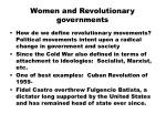 women and revolutionary governments