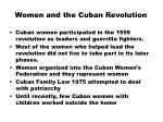 women and the cuban revolution