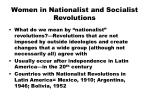 women in nationalist and socialist revolutions
