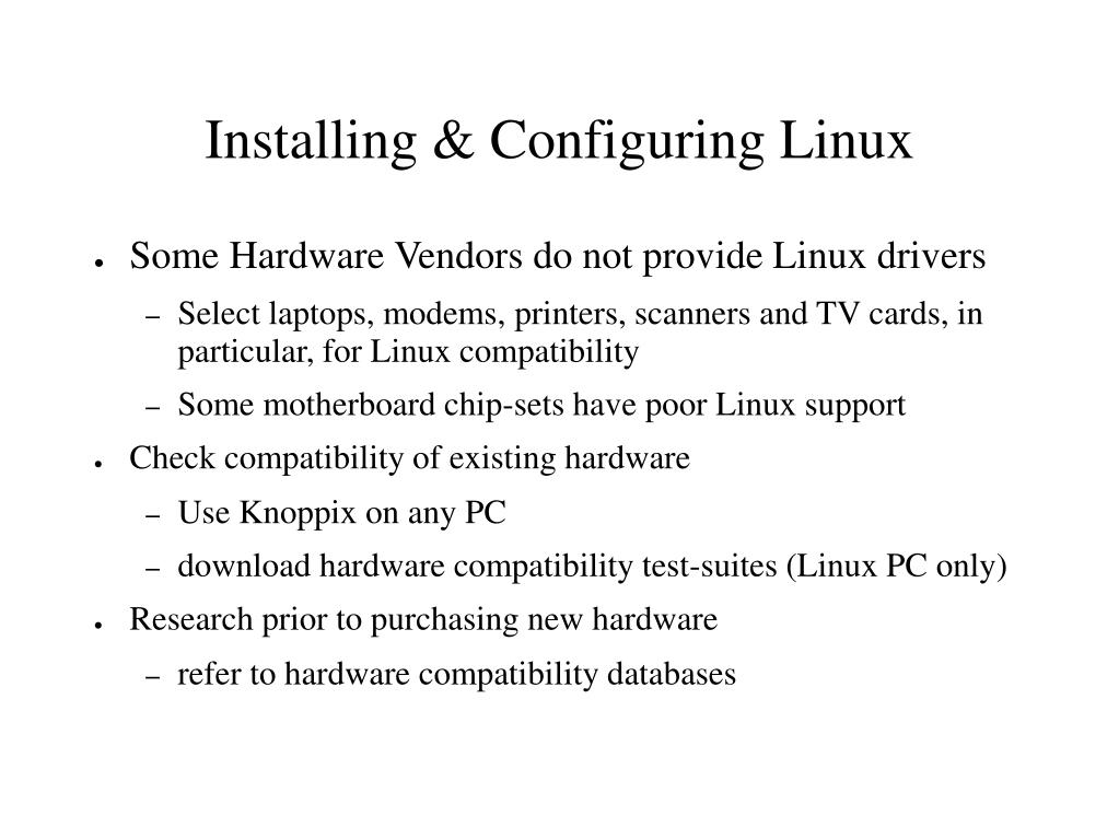 Installing & Configuring Linux