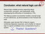 conclusion what natural logic can do
