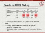 results on rte3 natlog