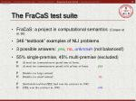 the fracas test suite