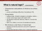 what is natural logic natural deduction