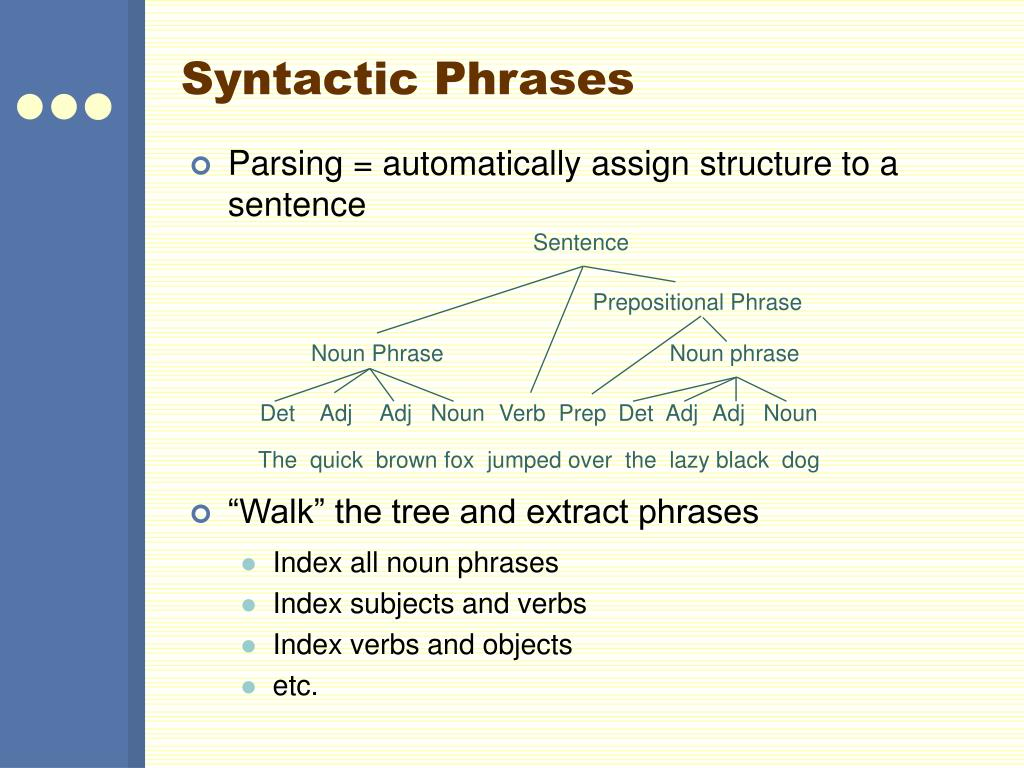 Syntactic Phrases