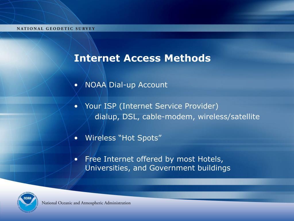 Internet Access Methods