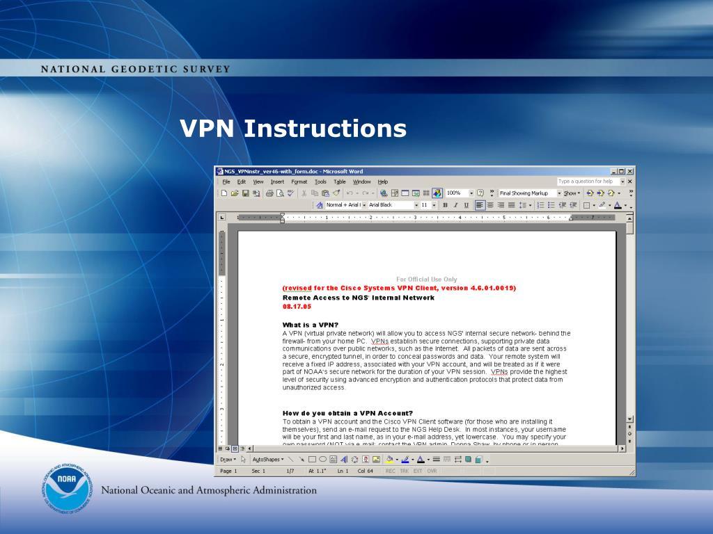 VPN Instructions