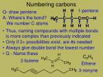 numbering carbons