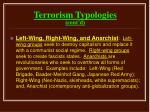 terrorism typologies cont d18