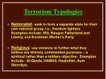 terrorism typologies