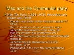 mao and the communist party