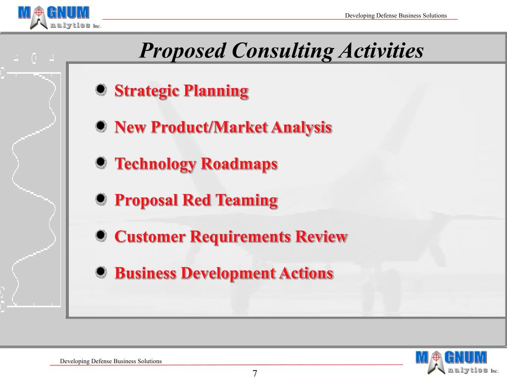 Proposed Consulting Activities