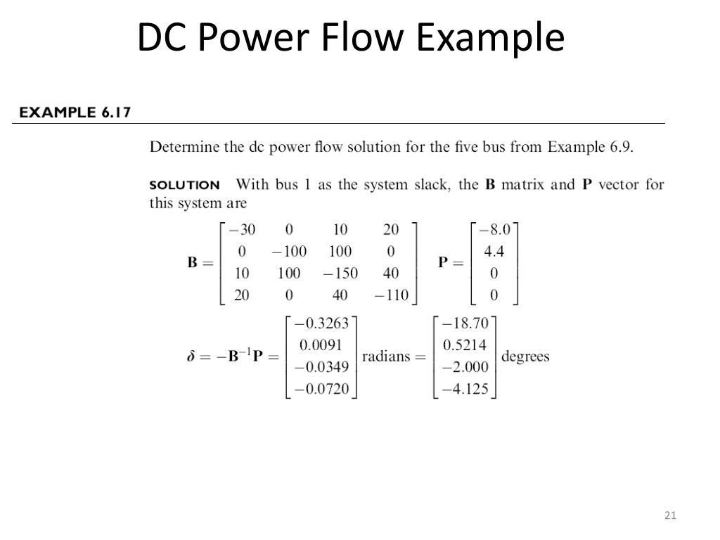 DC Power Flow Example