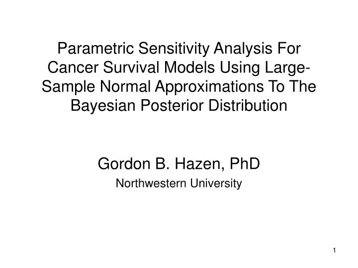 powerpoint presentation on sensitivity analysis sample Enzyme linked immunosorbent assay (elisa) sensitivity of elisa typically the lowest cytokine concentration that can be powerpoint presentation last.