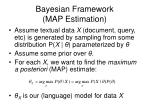 bayesian framework map estimation