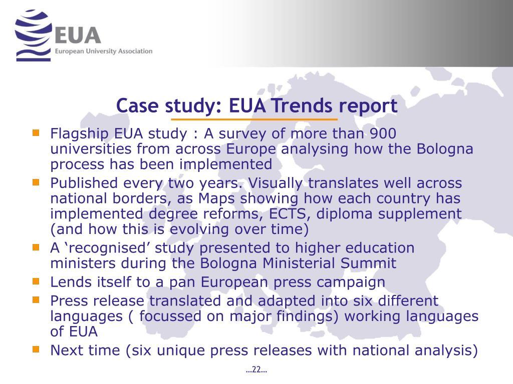 Case study: EUA Trends report