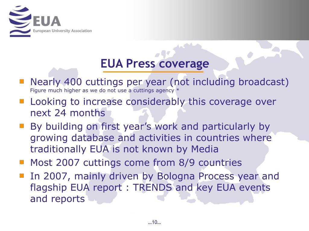 EUA Press coverage