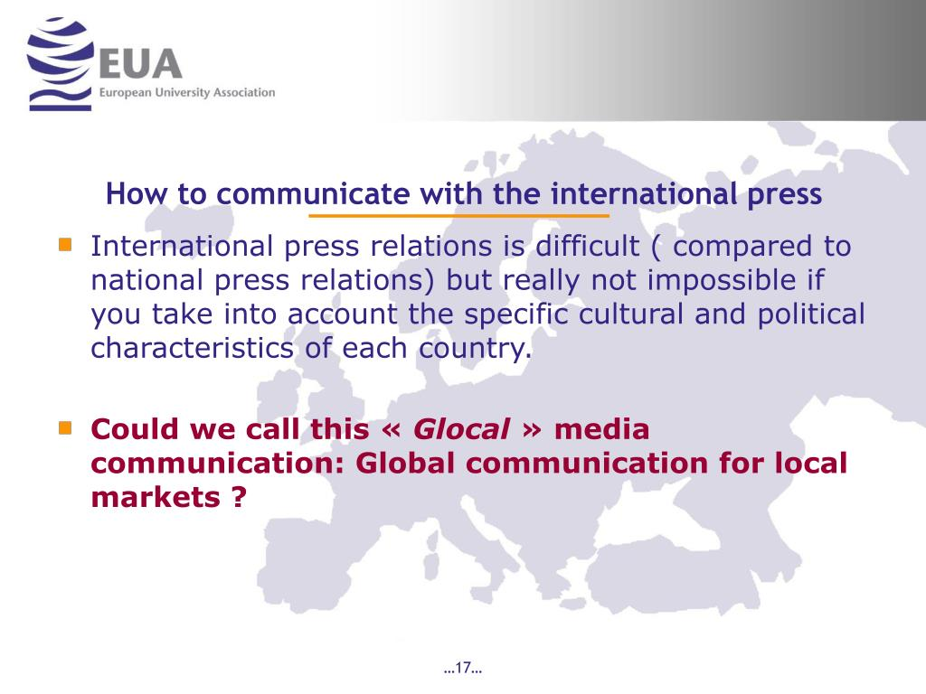 How to communicate with the international press