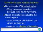 electrolytes and nonelectrolytes32